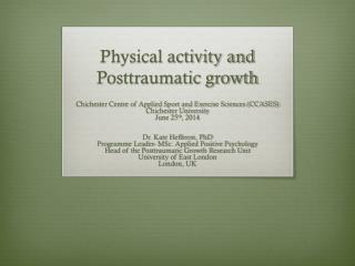 Physical activity and Posttraumatic growth