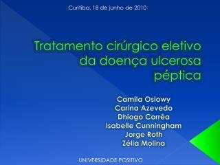 Tratamento cirúrgico eletivo da doença ulcerosa péptica