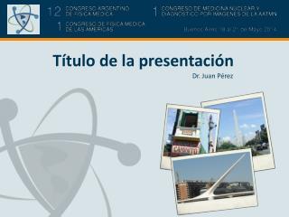Título de la presentación