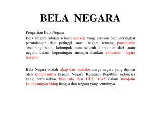 BELA  NEGARA