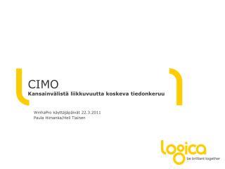 CIMO  Kansainvälistä liikkuvuutta koskeva t iedonkeruu