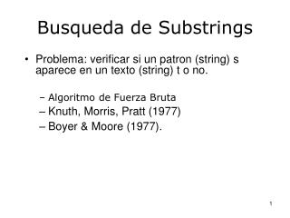 Busqueda de Substrings