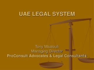 UAE LEGAL SYSTEM
