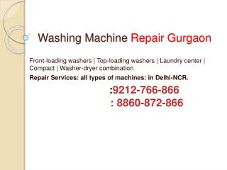 washing machine repair gurgaon-9212766866
