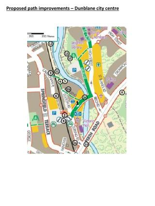 Proposed path improvements –  Dunblane  city centre
