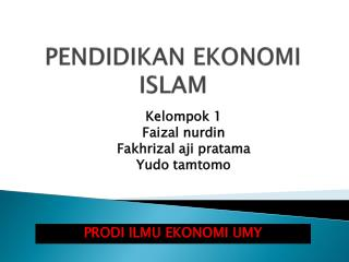 PENDIDIKAN EKONOMI ISLAM