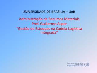 UNIVERSIDADE DE BRASÍLIA – UnB