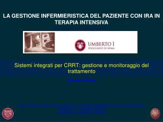 Sistemi integrati per CRRT: gestione e monitoraggio del trattamento