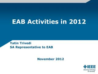 EAB Activities in 2012