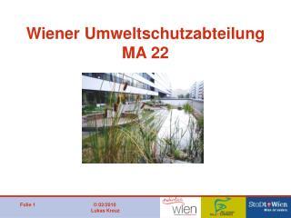 Wiener Umweltschutzabteilung MA 22