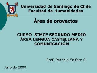 CURSO  SIMCE SEGUNDO MEDIO  REA LENGUA CASTELLANA Y COMUNICACI N