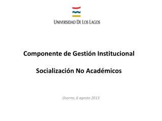 Componente de Gestión Institucional Socialización  No Académicos