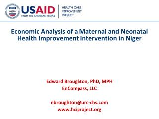Economic Analysis of  a Maternal and Neonatal Health Improvement Intervention in Niger