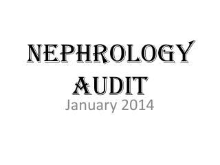 Nephrology Audit