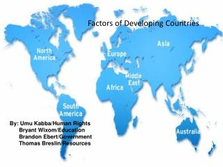 Factors of Developing Countries