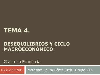 Tema 4.  Desequilibrios y ciclo macroeconómico Grado en Economía