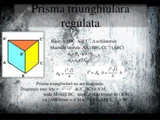 Prisma triunghiulara regulata