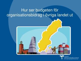 Hur ser budgeten för organisationsbidrag i övriga landet ut