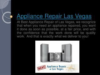 Washing Machine Repair Las Vegas