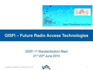 GISFI – Future Radio Access Technologies