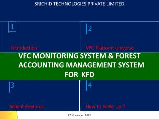 VFC MONITORING SYSTEM & FOREST ACCOUNTING MANAGEMENT SYSTEM FOR  KFD