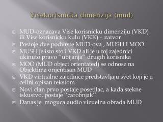 Visekorisnicka dimenzija  (mud)