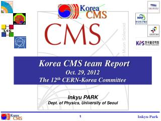 Korea CMS team Report Oct . 29, 2012 The 12 th  CERN-Korea Committee