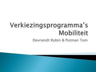 Verkiezingsprogramma's Mobiliteit