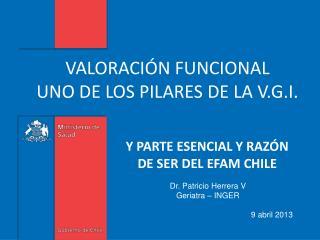 VALORACIÓN FUNCIONAL  UNO DE LOS PILARES DE LA V.G.I.