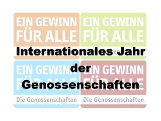 Internationales Jahr  der  Genossenschaften