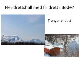 Fleridrettshall  med friidrett i Bodø?
