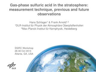 SSiRC  Workshop 28-30  Oct  2013 Atlanta, GA, USA