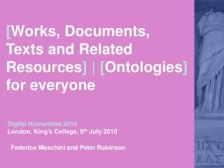 [ Works, Documents, Texts and Related Resources ] | [ Ontologies ]  for everyone