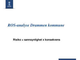 ROS-analyse Drammen kommune