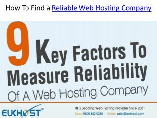 How To Find a Reliable Web Hosting Company