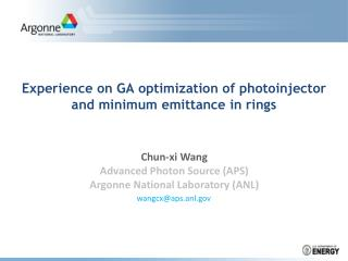 Experience on GA optimization of  photoinjector  and minimum  emittance  in rings