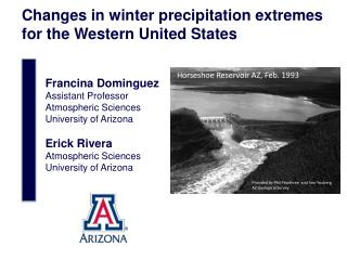 Changes in winter precipitation extremes for the Western United States