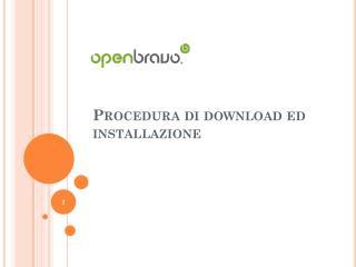Procedura di download ed installazione
