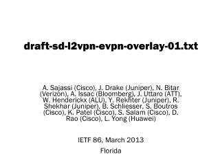 draft -sd- l2vpn-evpn-overlay-01.txt