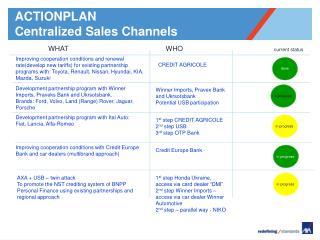 ACTIONPLAN Centralized  Sales Channels