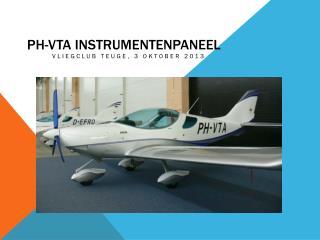 PH-VTA Instrumentenpaneel