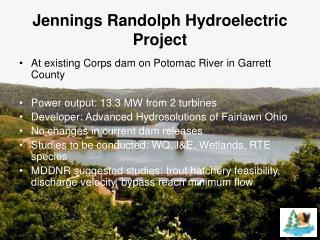 Jennings Randolph Hydroelectric Project