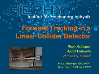 Forward Tracking in a Linear  Collider Detector