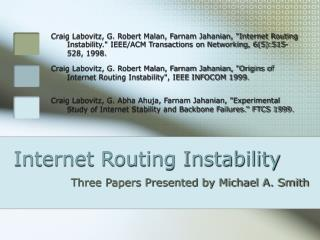 Internet Routing Instability