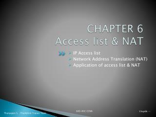CHAPTER  6 Access list & NAT