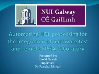 Automating HDL processing for the integration of hardware test and remote FPGA Laboratory