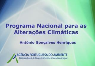 Programa Nacional para as Alterações Climáticas