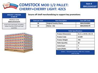 COMSTOCK  MOD 1/2 PALLET: CHERRY+CHERRY LIGHT: 42CS