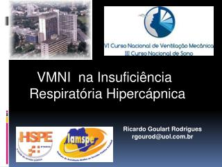 VMNI  na Insuficiência   Respiratória  Hipercápnica