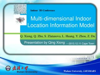 Multi-dimensional Indoor Location Information Model